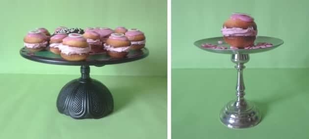 diy tortenplatte cupcake ständer mit gebäck